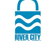 River city lock and key logo/card/letterhead