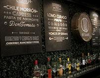 Bar El Barril - Diseño gráfico