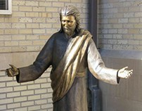 """Enlarged Jesus figure from 18"""" to lifesize bronze."""