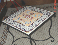 Mosaic coffee tables