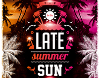Late Summer Sun Party Flyer, PSD Template