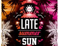Late Summer Sun Party Flyer, PSD Template