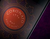 Coronato wine digital conceptualisation