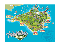 Map of holiday Island