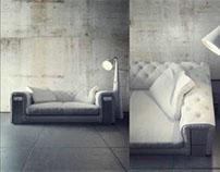 Sofa Chester Vilon 3D model