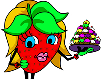 Mrs stRAWberry logo process & corporate identity