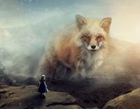 Fantasy Giant Fox - Photo Manipulation