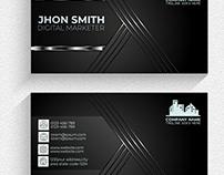 Professional modern black & silver luxury business card