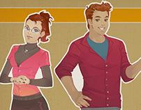 Saraiva e-learning characters