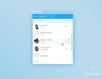 Day 224: Members Widget UI Design