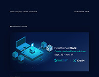Health Chain Hack web design
