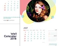 Wall Calendar 2018 Template