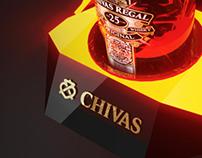 CHIVAS glorifier display