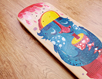 Monster Float Skateboard