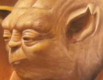 Yoda drinking scotch
