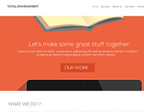Total Environment Web Development Agency, Site Design