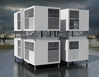 Residential building for flood areas