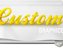 custom graphics - typography