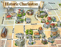 Charleston Gallery District Map illustration