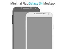 Minimal Flat Galaxy S4 Mockup