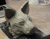 Lynx sculpture
