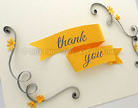 Printable quilled thank you card