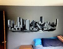 Boston Skyline Wall Graphics