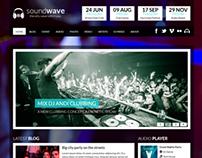 SoundWave WordPress Disco Theme
