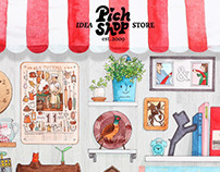 'SHOP-WINDOW' illustration for pichshop.ru