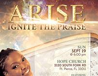 Arise Church Concert Flyer Template