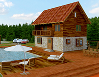 Cottage with swimming pool and fish pond, Serbia
