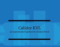 Calidor KVL typeface