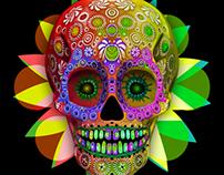 Calavera Mexicana 3D
