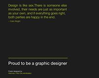 Colin wright quote poster design