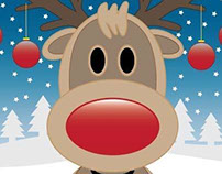 Reindeer Christmas Card Project