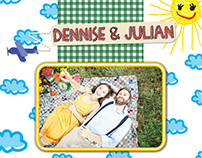 Picnic wedding invitation
