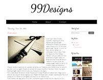 Premade Blogger Template | 99 Designs