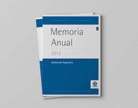 Memoria anual 2012 Wikimedia Argentina