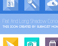 Flat and Long Shadow Icons