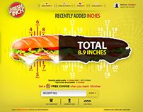 Subway Fresh Inch Campaign