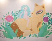 First wall painting // workshop de pintura mural