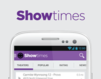 Showtimes Redesign for Android