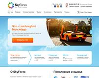 Главная страница интернет-трейдера SkyForex