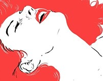 Black and Red (Illustration on Ellas Magazine, July)