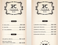 Menu K'tivas Bar