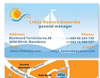 Villa Lidija business card