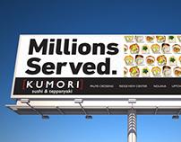 Kumori Sushi & Teppanyaki | Advertising Campaign