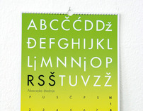 Alphabet of Saving Calendar