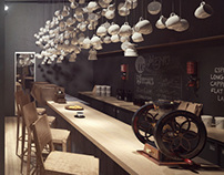 Origo Coffee Shop 3D Visualisation