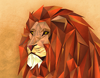 Lion - LowPoly Vectorial Illustration
